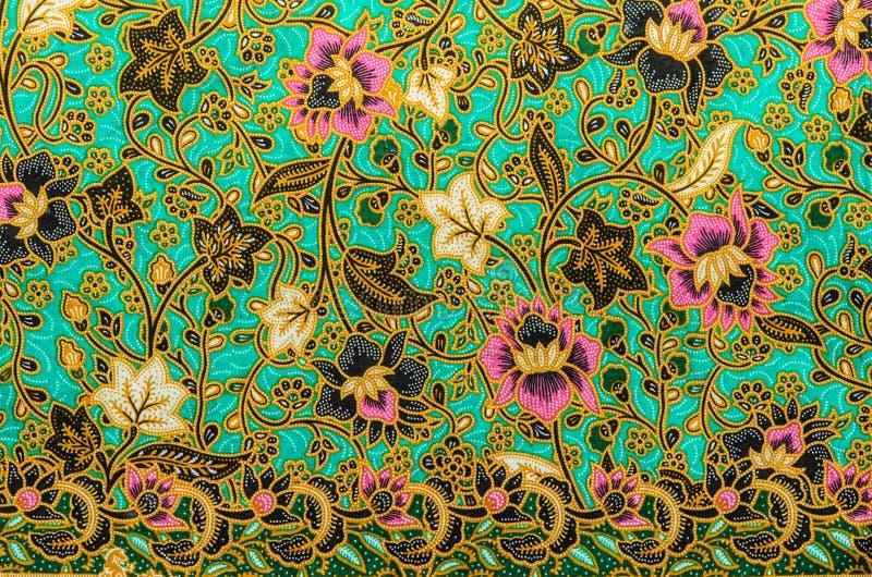 Batik cloth pattern stock image