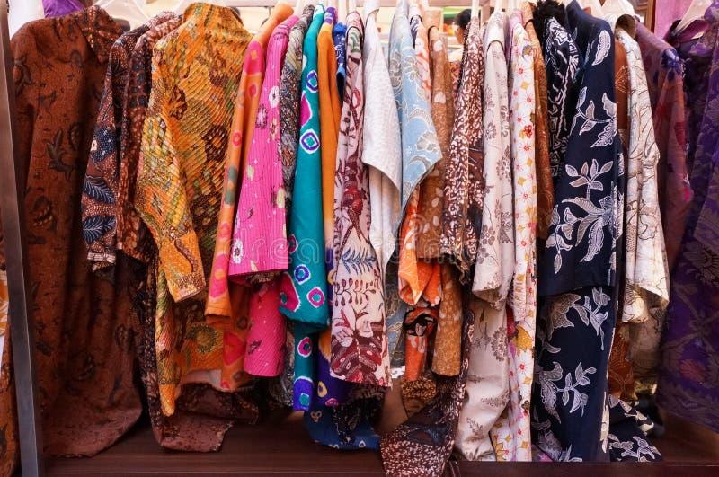 Batik Collections. In batik show in Surabaya stock photo