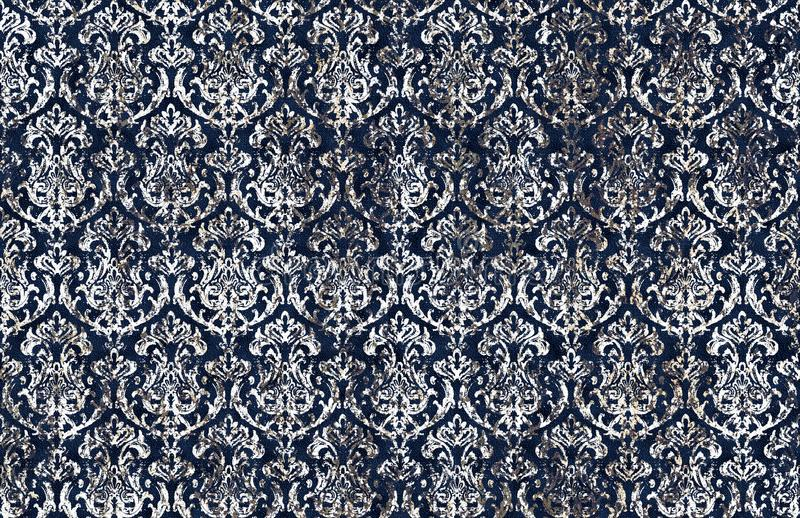 Batik damask tie dye texture repeat modern pattern. Texture repeat modern pattern with tie dye effect vector illustration