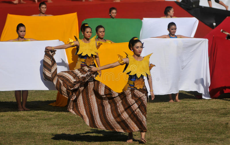 The Batik Dance stock photography