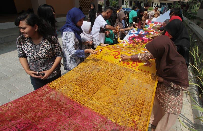 Batik day stock image