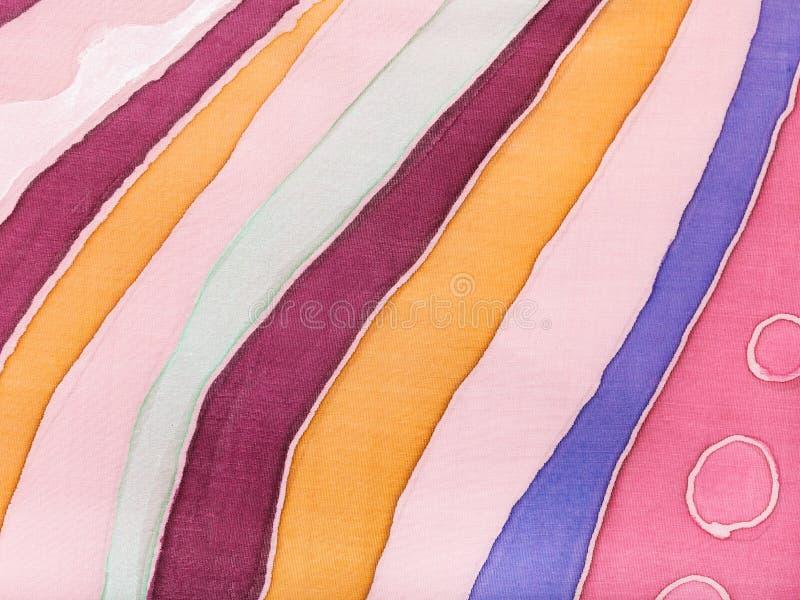 Batik de seda coloreado rayado abstracto ilustración del vector