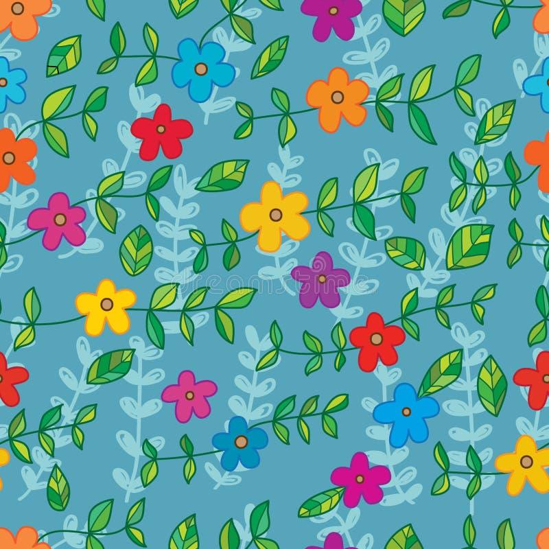 Batik della foglia del fiore molto modello senza cuciture royalty illustrazione gratis