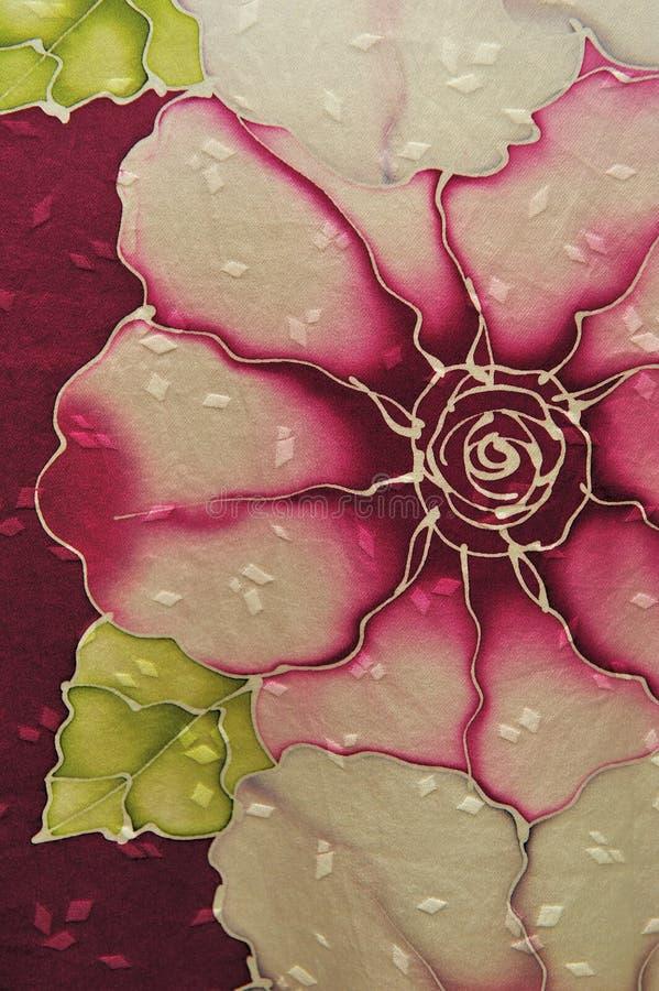 Batik di stile delle rose fotografie stock