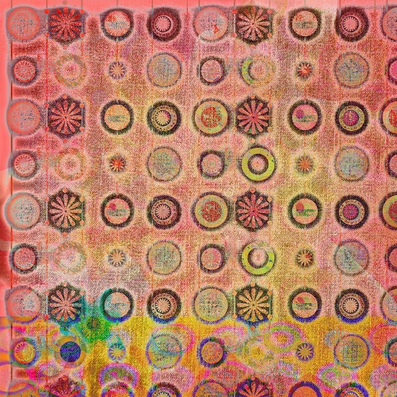 batik för 4 bakgrund stock illustrationer