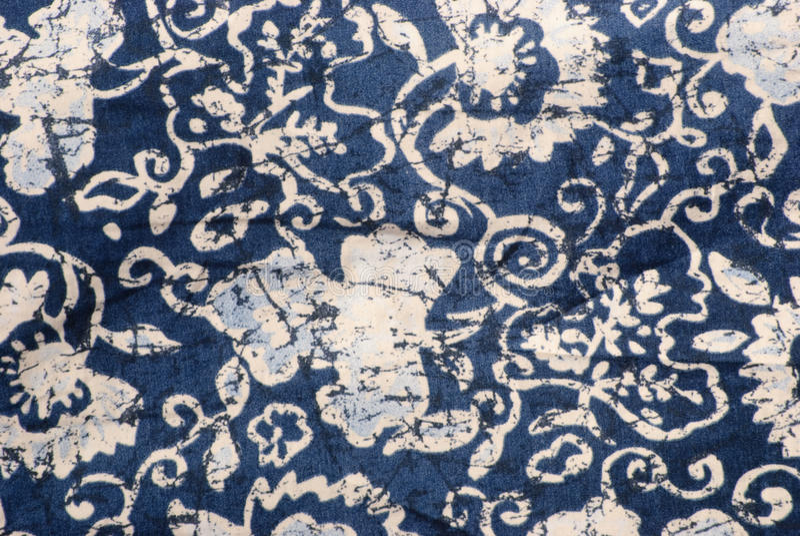 Batik fabric royalty free stock photo