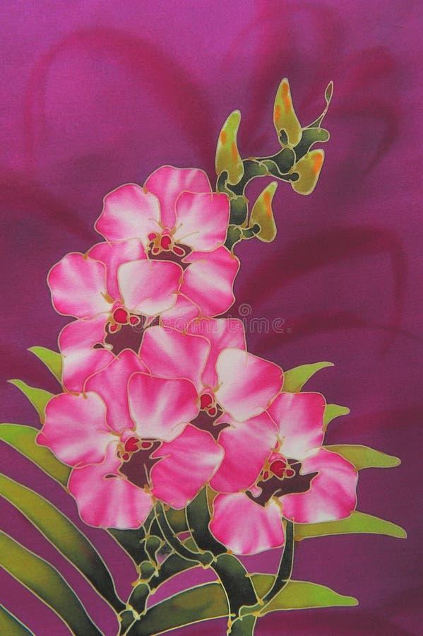 Batik floral stock photos