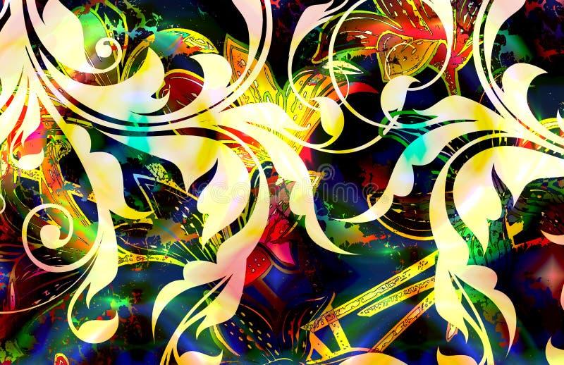 Batik floral illustration de vecteur