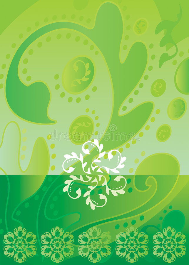 Download Batik_green stock vector. Illustration of asian, decor - 3676782