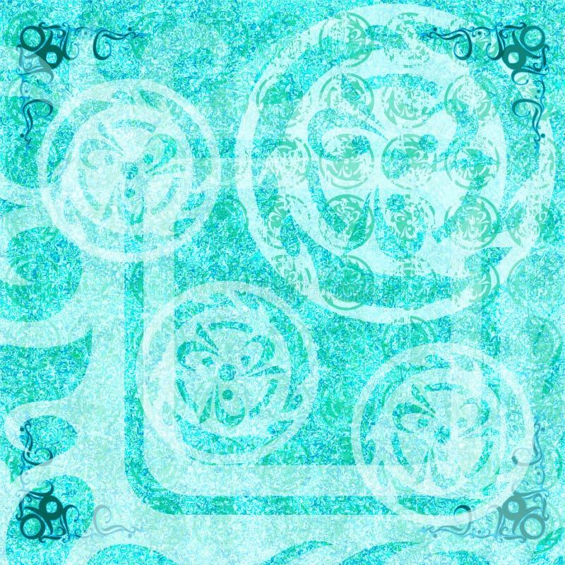 Batik Grunge Wallpaper Abstract Light Blue Bohemian Stock