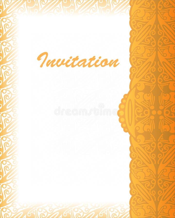 Batik Indonésie d'abrégé sur couverture d'invitation illustration libre de droits