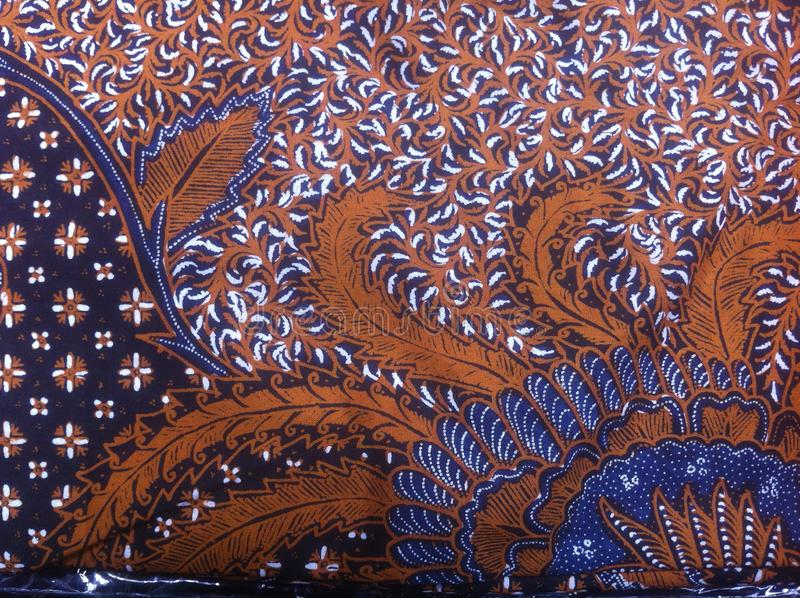 Batik, Indonesia Traditional Fabric royalty free stock photo