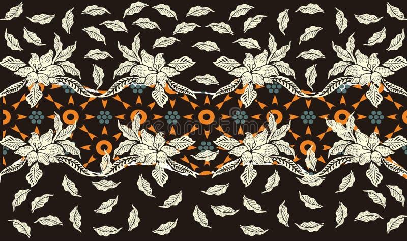 Batik indonesisch: ist eine Technik des Decklacks färbend angewendet am ganzen Stoff, oder Stoff machte unter Verwendung dieser T lizenzfreie abbildung
