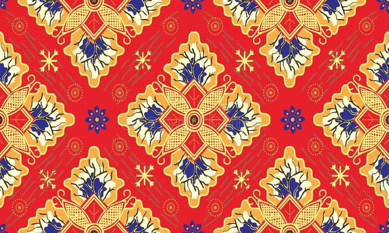 Batik indonesisch: ist eine Technik des Decklacks färbend angewendet am ganzen Stoff, oder Stoff machte unter Verwendung dieser T stock abbildung