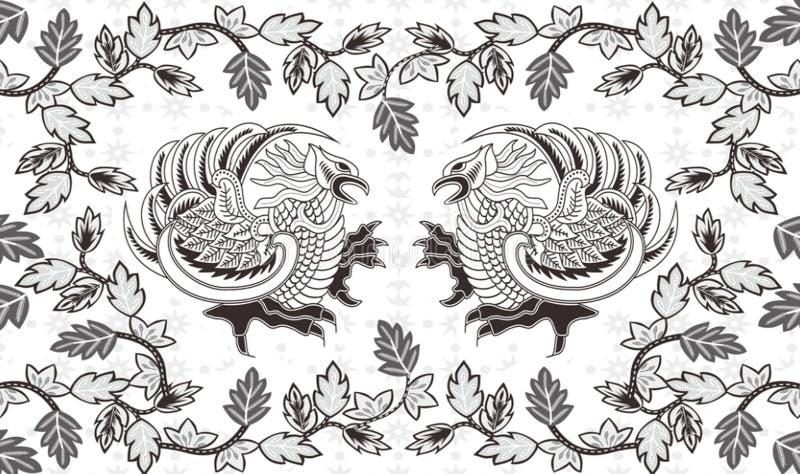 Batik indonesisch: ist eine Technik des Decklacks färbend angewendet am ganzen Stoff, oder Stoff machte unter Verwendung dieser T vektor abbildung