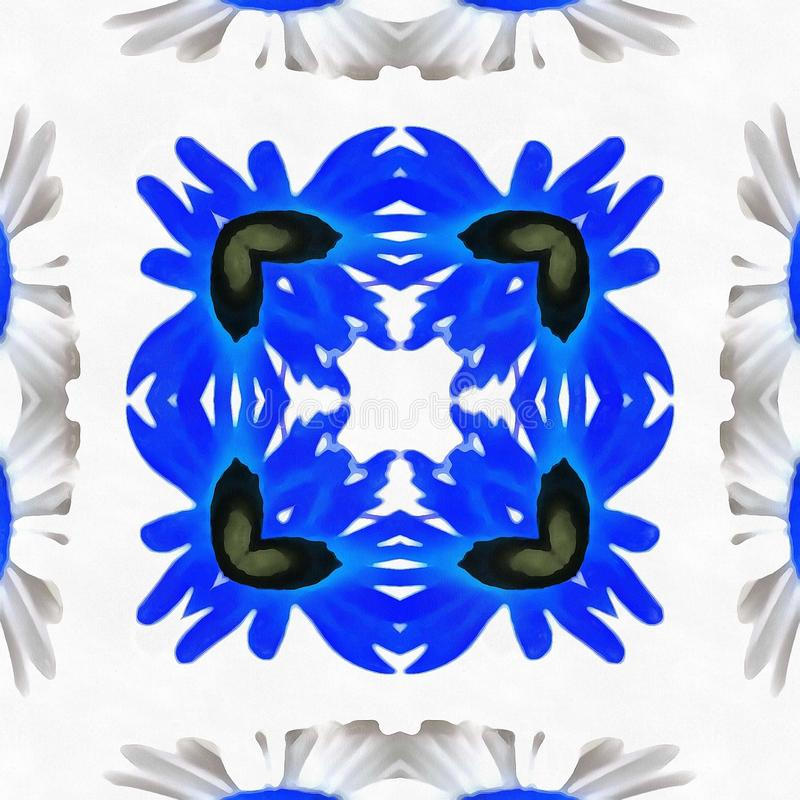 Batik-Kaleidoskop-Stammes- Spiegel lizenzfreies stockfoto