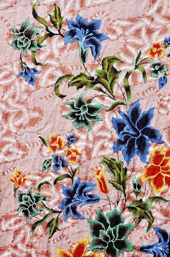 batik, modello del batik dell'Indonesia, sarong indonesiano del batik, panno del batik di motivo fotografie stock