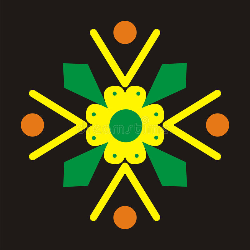 Download Batik motive stock illustration. Image of icon, traditional - 13149117