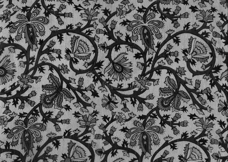 Batik noir indien. image libre de droits