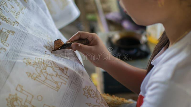 Batik, pano tradicional Indonésia imagens de stock royalty free
