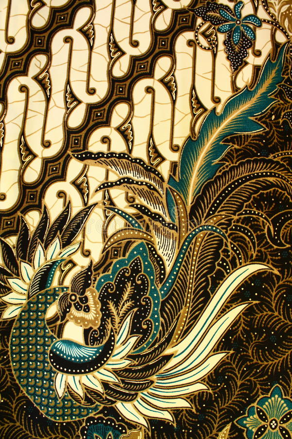 Batik Pattern, Indonesia. Detailed batik print background, Yogyakarta, Indonesia