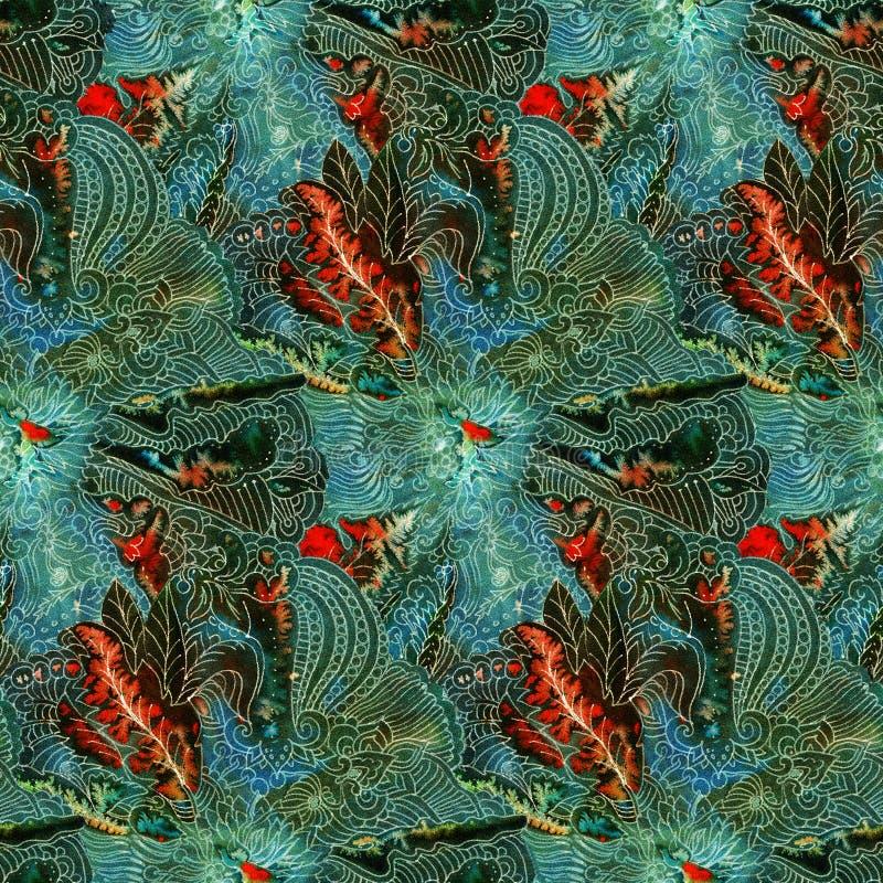 Batik pattern royalty free illustration