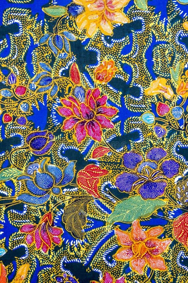 Batik Pattern. Malaysian and Indonesian Batik Pattern stock photo