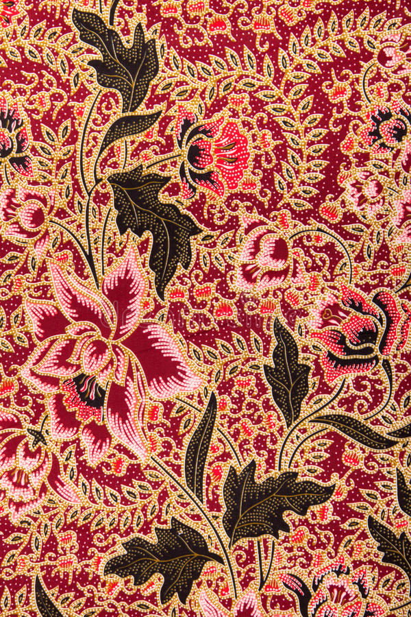 Batik pattern with roses royalty free stock image