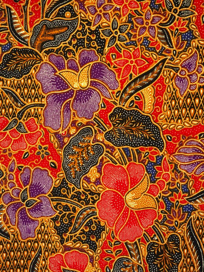 Batik pattern, Solo, Indonesia. Detailed batik print background, Solo, Indonesia stock photos
