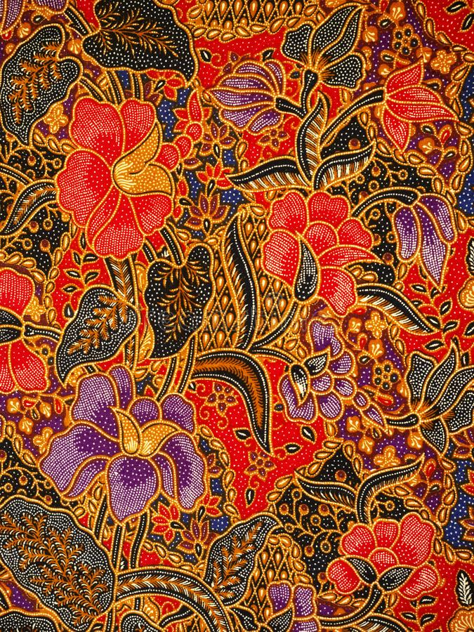 Batik pattern, Solo, Indonesia. Detailed batik print background, Solo, Indonesia stock photo
