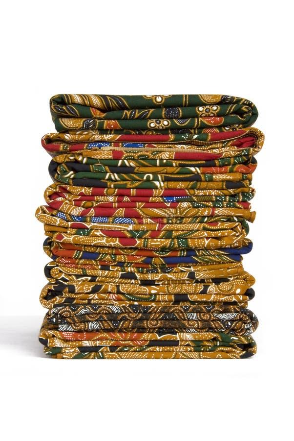 Batik Sarongs stock images