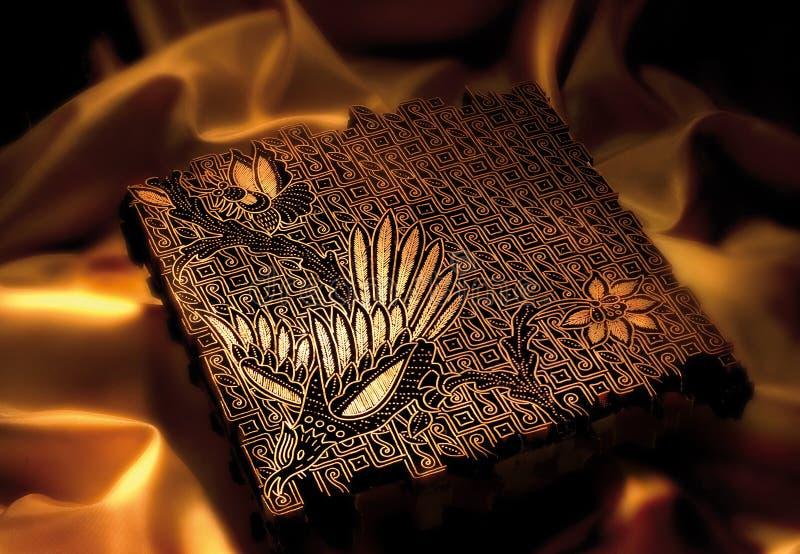 Batik stamp royalty free stock photos
