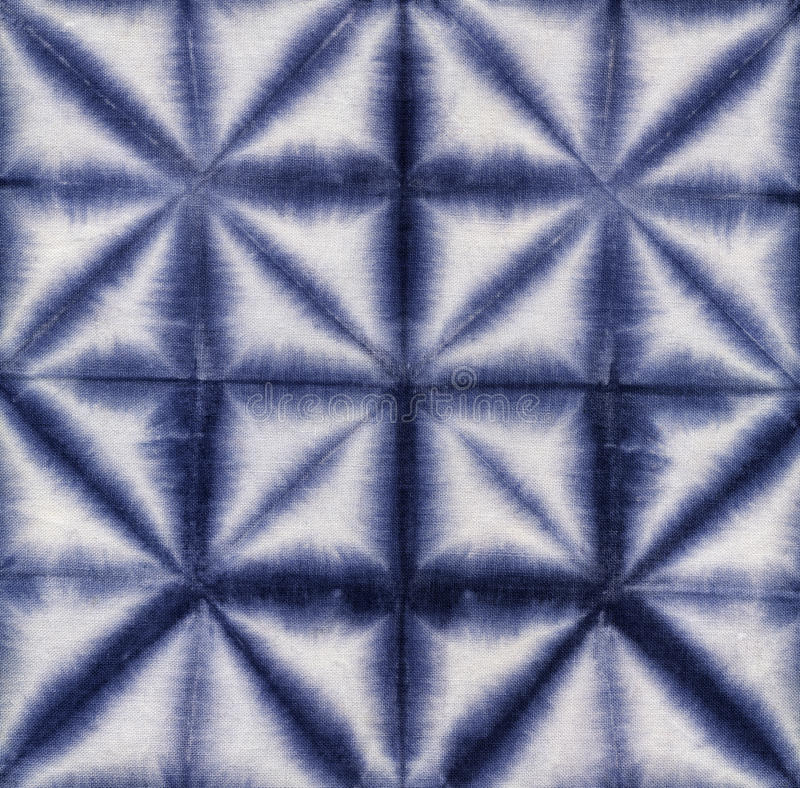 Batik teñido material Shibori foto de archivo libre de regalías