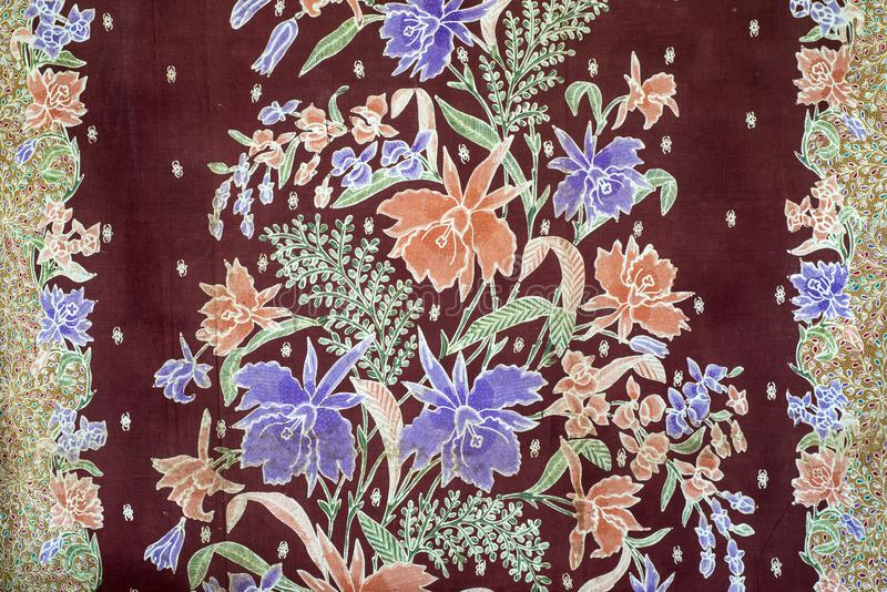 Batik tulis from  Pekalonggan Indonesia stock images