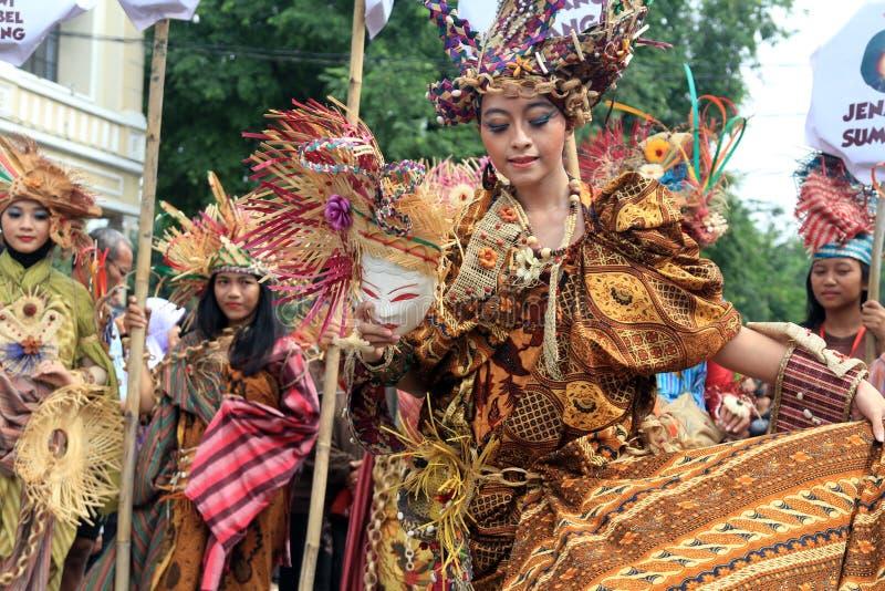 Batik vermelho fotografia de stock royalty free