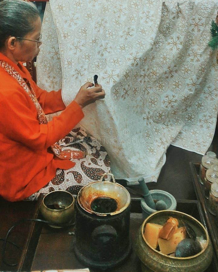 Batik Yogyakarta arkivfoton