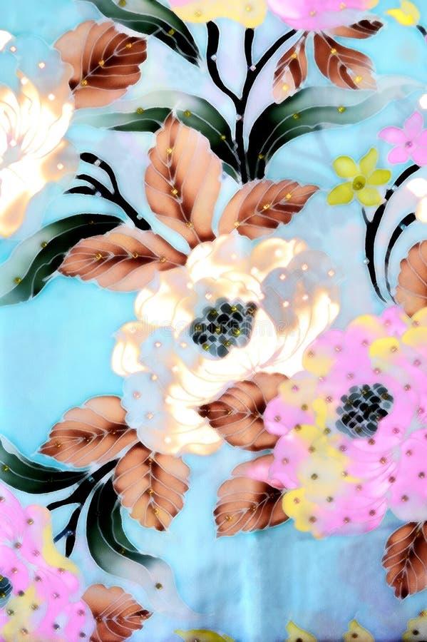 Batikachtergrond met stoffentextuur vector illustratie