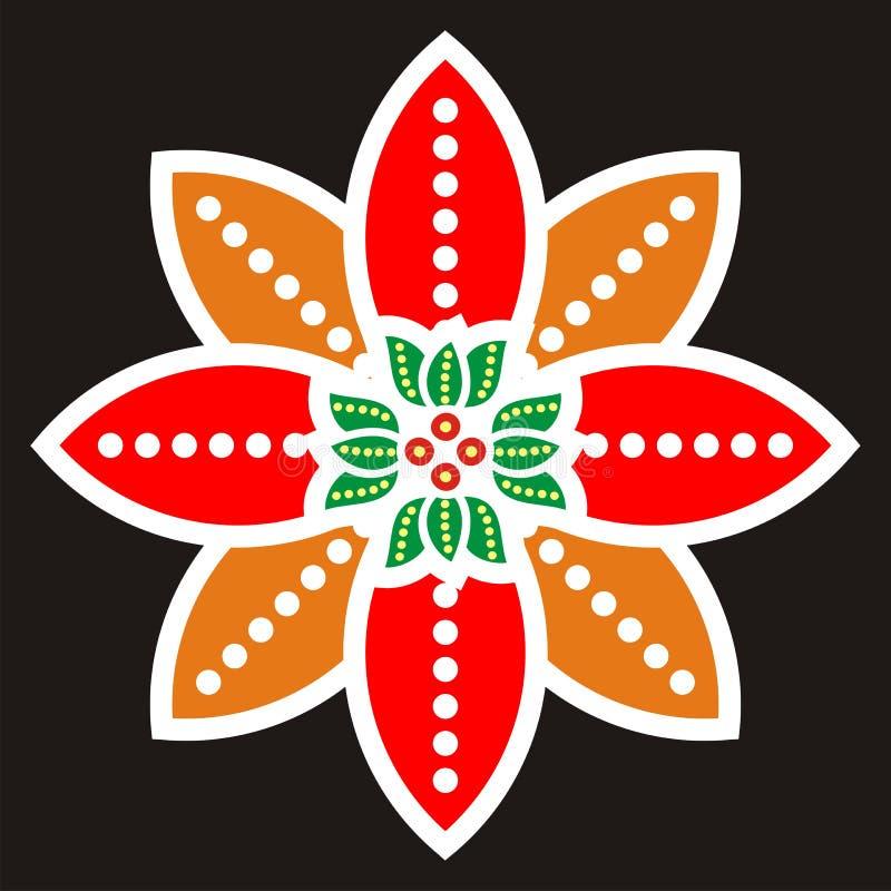 batikbevekelsegrund royaltyfri illustrationer