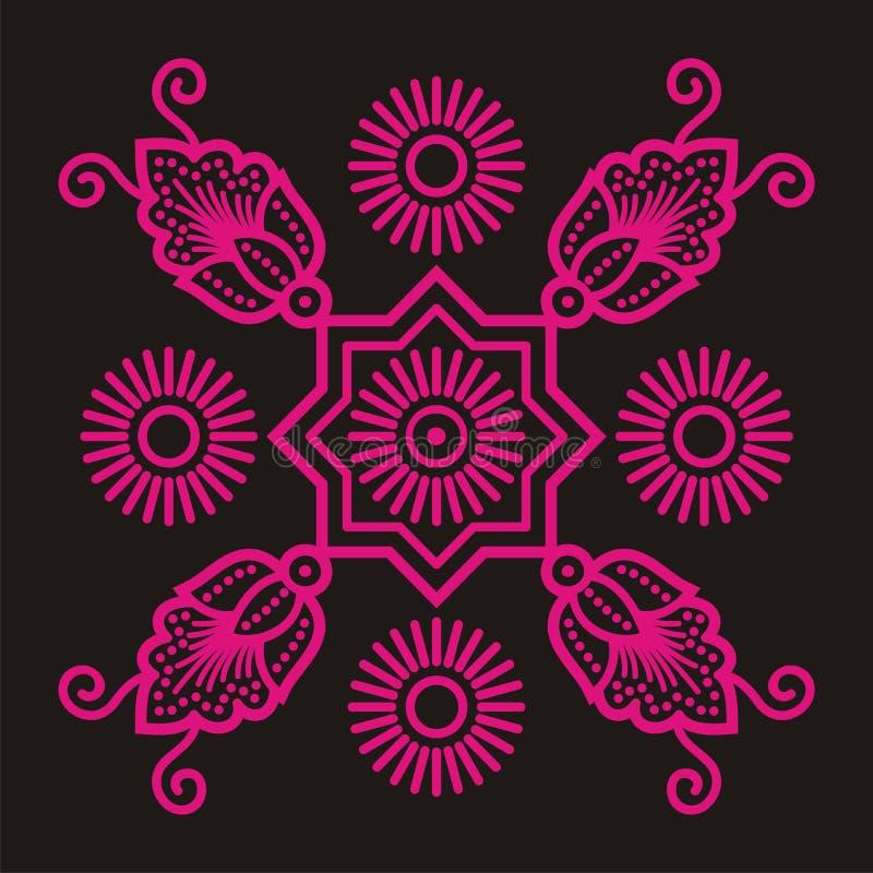 batikbevekelsegrund stock illustrationer