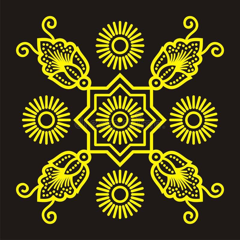 batikbevekelsegrund vektor illustrationer