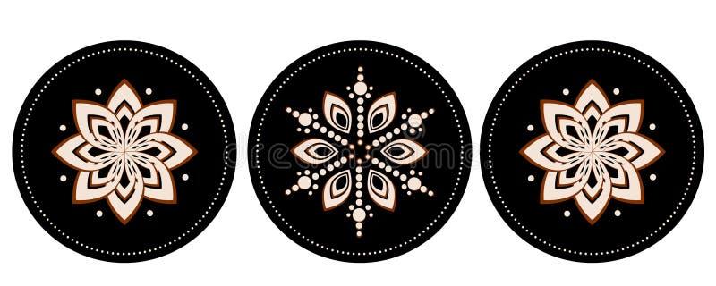 Batikdesignillustrationer vektor illustrationer