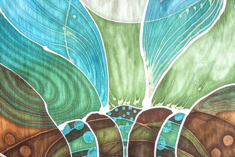 Batikillustrations-Blumenhintergrund stockbilder