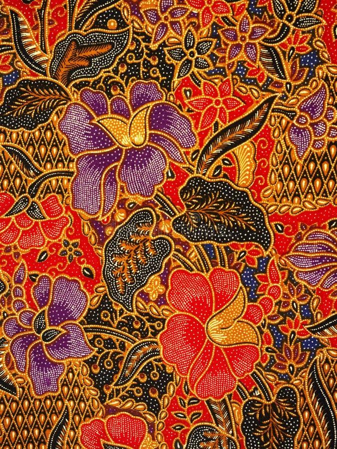 Batikmodell, solo, Indonesien arkivfoton