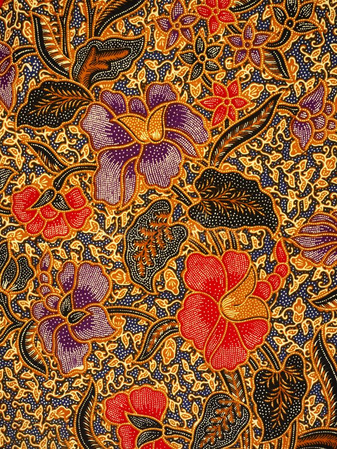 Batikmuster, Solo, Indonesien stockfotos