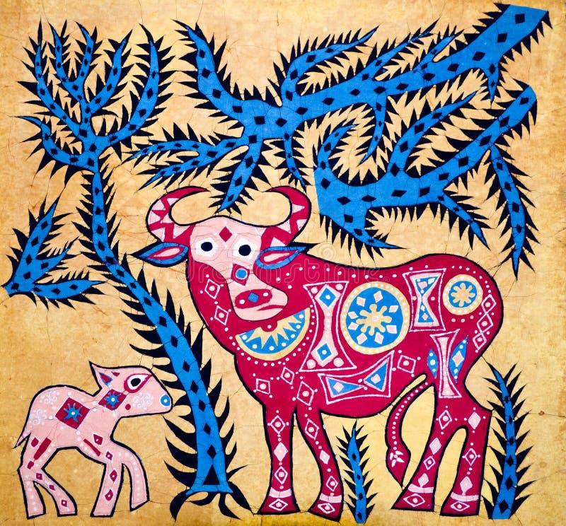 batikował dekorację royalty ilustracja
