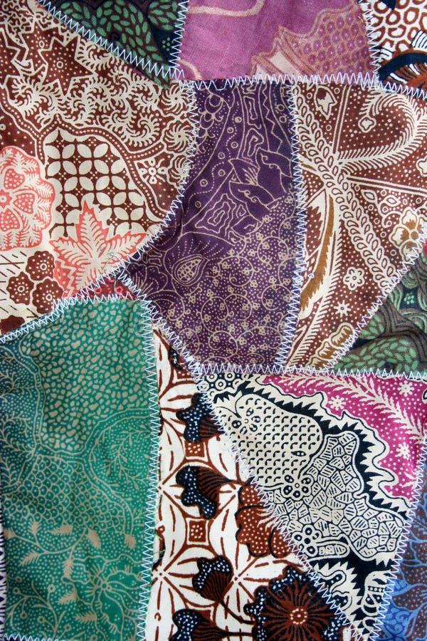 batikowa szalona tkaniny materiału kołderka obraz stock