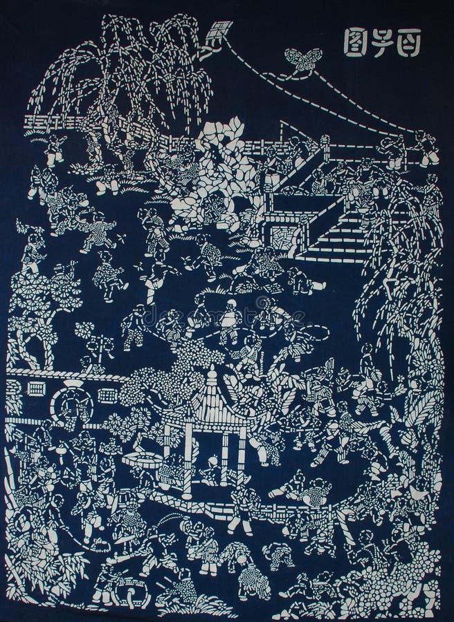 Batikowy obraz zdjęcia royalty free