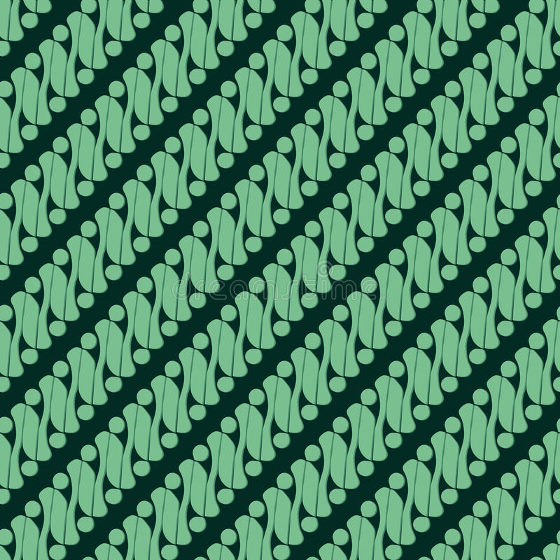 Batikowy Parang 2 ilustracja wektor