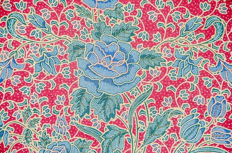 Batikowy sarongu wzoru tło w Tajlandia zdjęcia royalty free