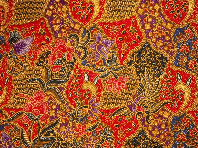Batikpatroon, solo, Indonesi? stock afbeelding